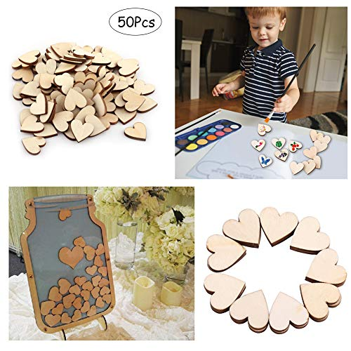 Wooden Heart Shape Embellishment Blank Wooden Heart Embellishments For Weddings Plaques Art Craft Card Making Or Decoration
