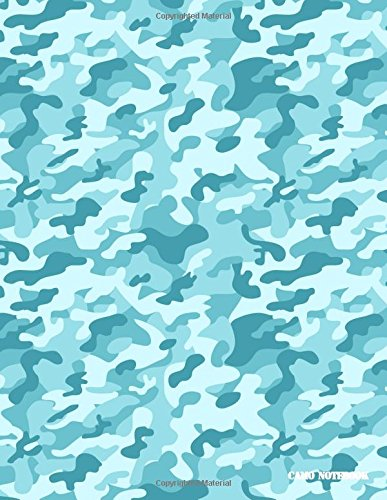 Camo Notebook: Arctic Blue Camouflage, 144 Pages Arctic Camouflage