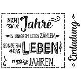 Rayher Hobby 29112000 Holzstempel Einladung, 7 x 10 cm, Text mit Aussagekraft, Butterer Schrift-Stempel, zum Gestalten von Karten, Einladungen u.v.m.