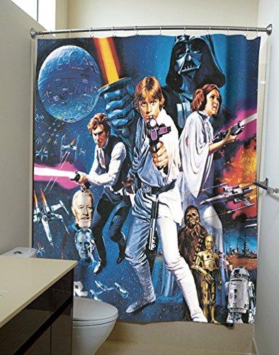Póster película Star Wars: Una nueva esperanza cortinas