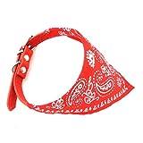 zunea Kleine Haustiere Hund Katze Halsband Dreieck Halstuch Bandana-Style verstellbar Print Puppy Schal Halsband