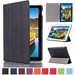 Skytar Etui pour Tablette Asus ZenPad 10,Folio Case Cover étui en Cuir Coque pour Asus ZenPad 10 Z300C/Z300M/Z300CL/Z300CG/Z301M/Z301ML/Z301MF/Z301MFL (10,1 Pouces) Housse de Protection,Noir