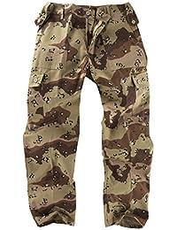 Army and Outdoors 6 Tasche Camouflage Kampf Cargo Hose - U.S Wüste / Schokotropfen