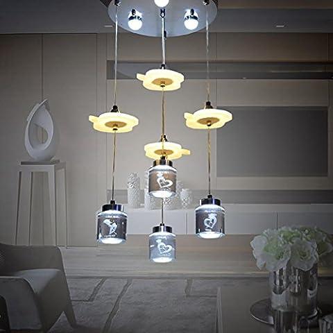 MJCOO Stampa acrilico led Lampadario Sala da pranzo salone minimalista moderno , 1