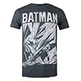 DC Comics Herren T-Shirt Batman Fight Scene, Grey (Dark Heather Dkh), X-Large