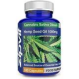 Huile de Chanvre en Capsule 1000mg | 180 Capsules (Approvisionnement pour 6 Mois) | Riche en Oméga 3 | Huile Pure Pressée à Froid | 1000 mg par Capsule