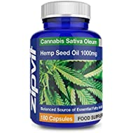 Hemp Oil 1000mg Supplement 180 Softgel Capsules | High Strength Hemp Seed Oil | Source of Omega 3 & 6 - Made in UK
