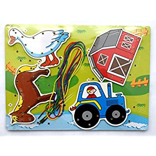 AeMBe - Holz Spielzeug - Bauernhof - Motoric Übungen