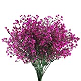 HUAESIN 4 pcs Flores Artificiales Decoración Jarrones Plastico Ramas Artificiales Decoracion...