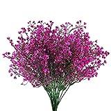 HUAESIN 4pcs Künstliche Blumen Lila Kunstblumen Gefälschte Unechte Blumen Künstlich Dekoblumen Plastikblumen Kunstpflanze für Balkon Garten Außenbereich Hochzeit Vase Dekoration