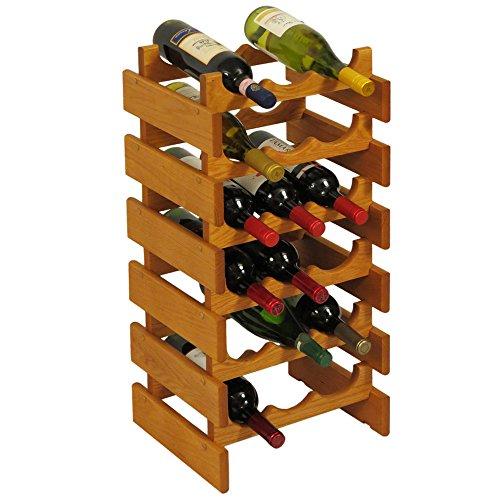 Wooden Mallet Holzhammer 3-Bottle Dakota Weinregal 18 Flasche Eiche medium