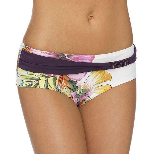 LingaDore Bikini Short Pant Belize Tankini Unterteil Bikinihöschen Gr. 38 40 42 44 (40, Pastelfarben auf Weiss)