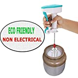 KNOWTEQ Stainless Steel Non-Electrical Hand Blender, Mixer, Egg and Cream Beater