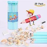 50 Stück 2B Bleistifte, Recycling-Holz und Soft Leads Graphit Bleistifte zum Schreiben und Skizzieren, Great Education und Office-Produkt für Kind & Erwachsener. (Grün & blau)