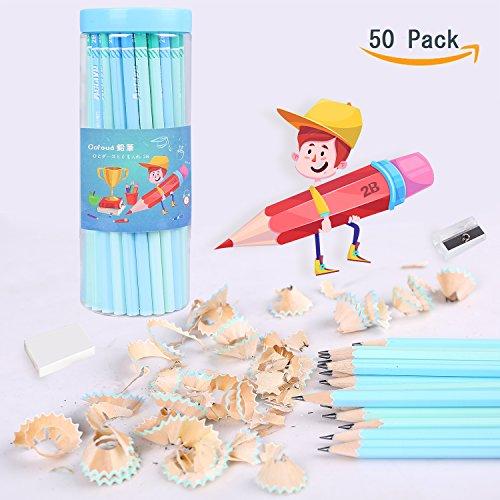 50 Stück 2B Bleistifte, Recycling-Holz und Soft Leads Graphit Bleistifte zum Schreiben und...