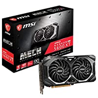 ‏‪MSI Gaming Radeon RX 5600 XT Boost Clock: 1600 MHz 192-bit 6GB GDDR6 DP/HDMI Dual Torx 3.0 Fans Freesync DirectX 12 Ready Graphics Card (RX 5600 XT MECH OC)‬‏