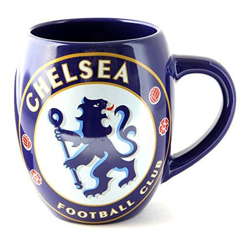 Chelsea FC Offizielle Keramik-Fußball-Wappen-Tee-Tasse (Einheitsgröße) (Blau) -