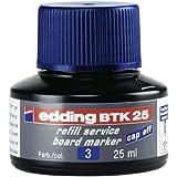 edding BTK 25 navulinkt whiteboardmarker - blauw - 25 ml - met druppelsysteem, voor snel navullen van vrijwel alle whiteboard