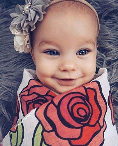 Baby Schlafsack Swaddle Neugeborene, yuyoug 2Neugeborene Baby Wickeldecke Weiche Decke SWADDLE Musselin Wrap + Headbands, Baumwollmischung, rot, Einheitsgröße