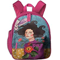 Beaty with Flower and Owl Kid and Toddler Student Backpack School Bag Super Bookbag