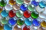 30 St. Deko Mosaiksteine Glasnuggets transparent a 17-20 mm bunt ca. 130g. - 3