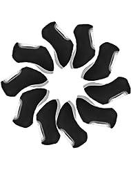 10pcs neopreno club de golf Headcovers hierro proteger acolchado cabeza cubierta protectora calcetín set cubierta OS952