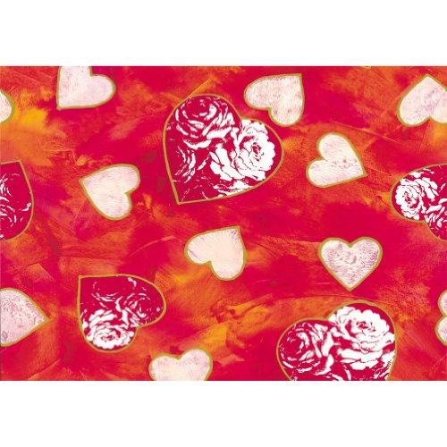 Susy Card 11273877 Geschenkpapier, 30 m, Motiv Flammende Herzen