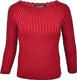 Küstenluder Damen Oberteil Zola Retro Vintage Pullover Rot XL