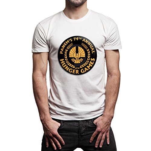 Hunger-Games-Panem's-74th-Annual-Background.jpg Herren T-Shirt Weiß