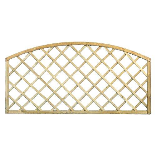 Traliccio ad arco in legno materiale trattato arredo giardino 180x90cm 02347