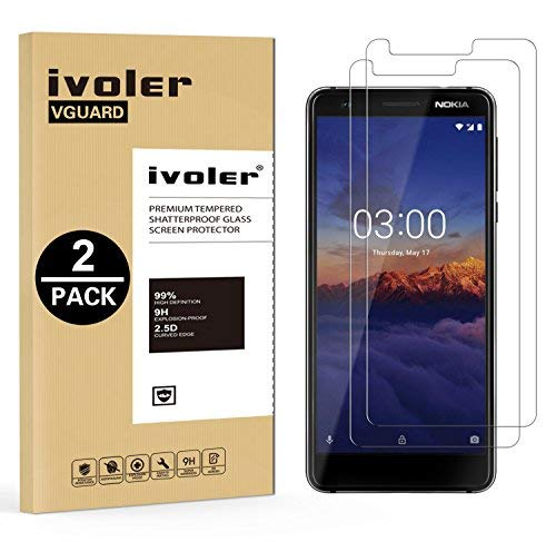 iVoler [2 Stücke] Panzerglas Schutzfolie für Nokia 3.1 / Nokia 3 2018 [9H Härte] [Anti- Kratzer] [Bläschenfrei] [2.5D R&e Kante]