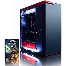 VIBOX Armageddon GS570-533 Gaming PC Ordenador de sobremesa con Cupón de juego (4,0GHz Intel i3 Quad-Core, MSI Armor GeForce GTX 1070 Ti Tarjeta Grafica, 32GB DDR4 RAM, 240GB SSD, 1TB HDD, Sin OS)