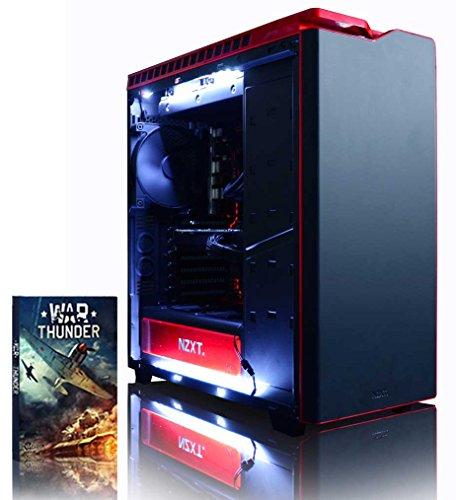VIBOX Armageddon GM560-515 Gaming PC Computer mit Spiel Bundle (4,1GHz Intel i5 6-Core Prozessor, MSI Nvidia GeForce GTX 1060 Grafikkarte, 16Go DDR4 RAM, 480GB SSD, 2TB HDD, Ohne Betriebssystem)