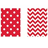 Amscan International 374800-40 Dots and Chevron
