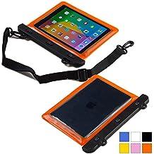 Funda resistente al agua tipo sobre Voda de Cooper Cases(TM) para tablet de Samsung Galaxy Tab 3 8.0 (T311/T315/T310) en Naranja (diseño ligero, ventana táctil, hermética, asa para hombro ajustable)