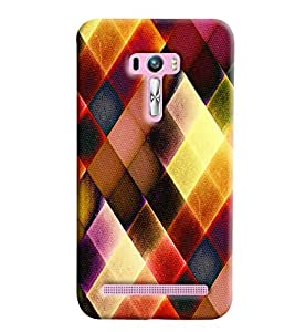 Blue Throat Colored Burfi Effect Printed Designer Back Cover/ Case For Asus Zenfone Selfie