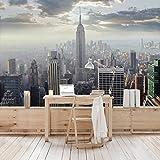 Apalis Vliestapete Sonnenaufgang in New York Fototapete Breit   Vlies Tapete Wandtapete Wandbild Foto 3D Fototapete für Schlafzimmer Wohnzimmer Küche   mehrfarbig, 98541
