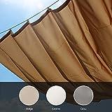 Balkontex Markise Roma 140x270cm Pergola Seilspannmarkise Neu (140x270cm, Creme)