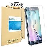 Galaxy S6 Edge Schutzfolie, Pulesen® [2-Pack] Samsung Galaxy S6 Edge Folie [HD Klare, 99% Transparenz] Schutzfolie für