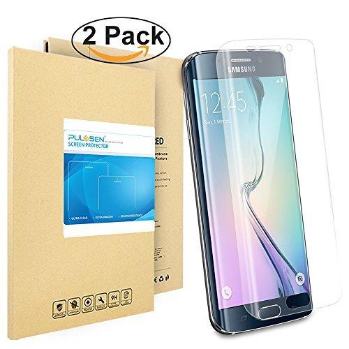 Galaxy S6 Edge Schutzfolie, Pulesen® [2-Pack] Samsung Galaxy S6 Edge Folie [HD Klare, 99prozent Transparenz] Schutzfolie für S6 Edge displayschutzfolie, Screen Protector
