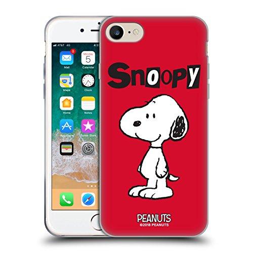 Head Case Designs Offizielle Peanuts Snoopy Persöhnlichkeiten Soft Gel Hülle für iPhone 7 / iPhone 8