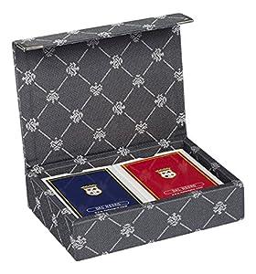 Dal Negro 804518-Puerta Tarjetas de Juegos Prestige Color Poker y Ramino, Gris
