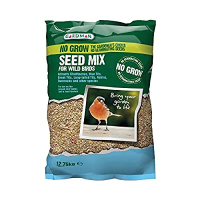 Gardman No Grow Bird Feed Seed Mix 12.75kg by Gardman