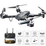 Big-Mountain RC Drone Selfie Quadrocopter | E58 2.4Ghz 4CH 720P HD Kamera WiFi FPV | Hubschrauber Luftbildkamera | Höhe halten 4-Achsen-Gyro ( Schwarz)