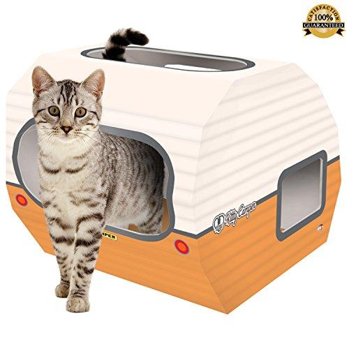 """Wicker Swing (Katzenhausaus Karton:""""The Kitty Camper"""" ist das perfekte Spielhäuschen, Schloss und Bett für Haustiere. Nur noch Katzenspielzeug hinzufügen, und schon können Sie Ihr Kätzchen oder Kaninchen mit gutem Gefühl allein zu Hause lassen. Mit eBook (eventuell nicht in deutscher Sprache). )"""