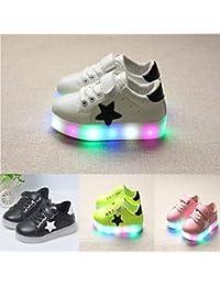 originaltree luz LED hasta zapatos de niña Boy Star antideslizante zapatos de bebé Zapatillas