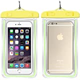"""Safeseed® Waterproof mobile phone pouch cover for smartphones upto 5.5"""" (Yellow)"""
