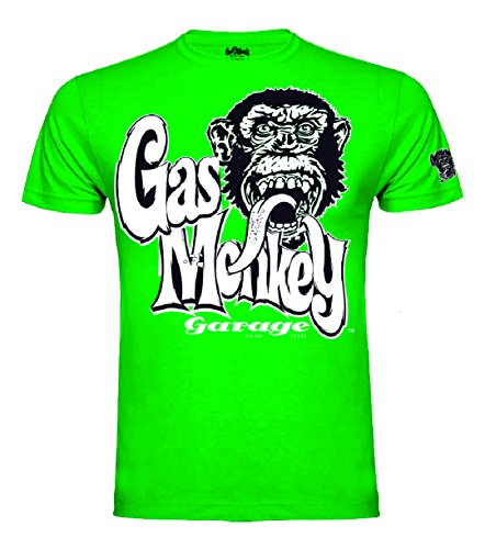 Gas Monkey Garage T-Shirt Kids OG Logo Green-7-8 Jahre