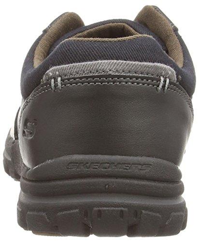 Skechers Braver Alfano, Chaussures Bateau Homme Noir