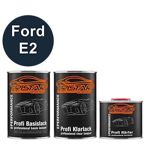 E2 Fusion (TRISTARcolor Autolack Set Dose spritzfertig für Ford E2 Ink Blue Metallic Basislack + 2K Klarlack 2,5L)